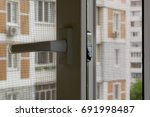open window with a mosquito... | Shutterstock . vector #691998487
