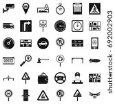 traffic icons set. simple style ... | Shutterstock .eps vector #692002903