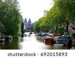 amsterdam  holland  europe  ...   Shutterstock . vector #692015893