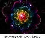 abstract fractal luxurious ... | Shutterstock . vector #692018497