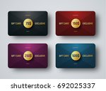 templates of premium gift cards ... | Shutterstock .eps vector #692025337