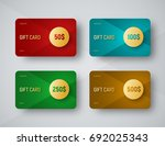 templates of gift cards with a... | Shutterstock .eps vector #692025343
