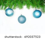 christmas background with fir...   Shutterstock . vector #692037523
