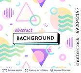 abstract avangarde retro... | Shutterstock .eps vector #692042197