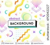 abstract avangarde retro... | Shutterstock .eps vector #692042227
