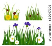 green grass border plant lawn... | Shutterstock .eps vector #692047303