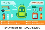 useful and dangerous objects on ... | Shutterstock .eps vector #692053297