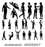 a set of very high quality... | Shutterstock .eps vector #692053417
