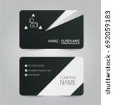 black and white modern business ... | Shutterstock .eps vector #692059183