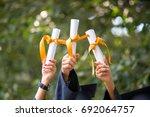 education  graduation  people... | Shutterstock . vector #692064757