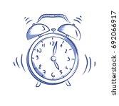 vector doodle icon alarm clock  | Shutterstock .eps vector #692066917