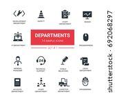 office departments   line... | Shutterstock .eps vector #692068297