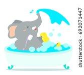 Happy Elephant Cartoon Take A...