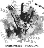 heavy metal hand background | Shutterstock .eps vector #69207691