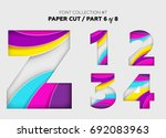 carved paper art  font design.... | Shutterstock .eps vector #692083963