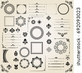 vintage set of classic elements.... | Shutterstock . vector #692093023