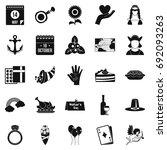 list icons set. simple set of...