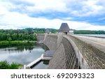 mohnesee dam | Shutterstock . vector #692093323