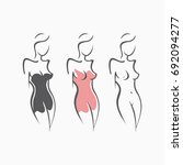 collection sexy fitness naked... | Shutterstock .eps vector #692094277