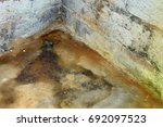 water damage and mold in... | Shutterstock . vector #692097523
