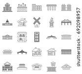 creature icons set. outline set ... | Shutterstock .eps vector #692098957