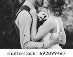 stylish happy bride with...   Shutterstock . vector #692099467