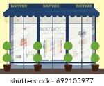 modern clothing store facade... | Shutterstock .eps vector #692105977