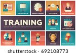 business training   flat design ... | Shutterstock .eps vector #692108773
