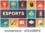esports   modern vector flat... | Shutterstock .eps vector #692108893