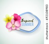vector banner with tropical... | Shutterstock .eps vector #692108983