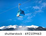 ski lift  cable car cabin in... | Shutterstock . vector #692109463