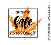 autumn sale 70  off square... | Shutterstock .eps vector #692112163