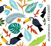 seamless vector pattern with... | Shutterstock .eps vector #692116507