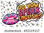 do you speak english word... | Shutterstock .eps vector #692119117