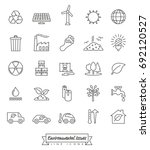 environmental issues line icons ... | Shutterstock .eps vector #692120527
