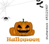 happy halloween design... | Shutterstock .eps vector #692121907