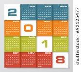 modern design calendar 2018... | Shutterstock .eps vector #692125477