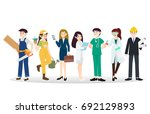 a group of people of different... | Shutterstock .eps vector #692129893