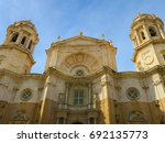 the cathedral of cadix  ... | Shutterstock . vector #692135773