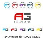 ag letter icon | Shutterstock .eps vector #692148337