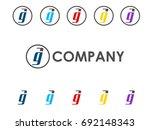 ag letter icon | Shutterstock .eps vector #692148343