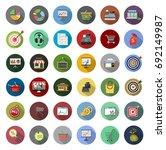 market icons | Shutterstock .eps vector #692149987
