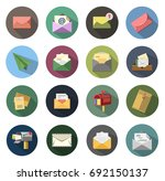 mail icons | Shutterstock .eps vector #692150137