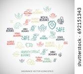 multicolor doodles flat hand...   Shutterstock .eps vector #692151343