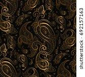 paisley beautiful golden...   Shutterstock .eps vector #692157163