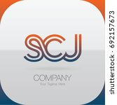 logo letter combinations s  c... | Shutterstock .eps vector #692157673