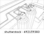 water purification station....   Shutterstock .eps vector #692159383
