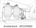 water purification station....   Shutterstock .eps vector #692159683