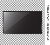 tv flat screen lcd  plasma... | Shutterstock .eps vector #692159887
