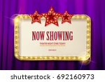 bright red marquee with light... | Shutterstock .eps vector #692160973